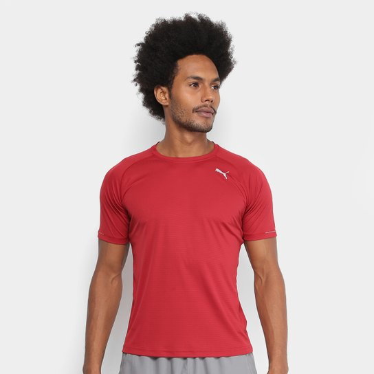 415cb11974 Camiseta Puma Core-Run Masculina - Vermelho Escuro
