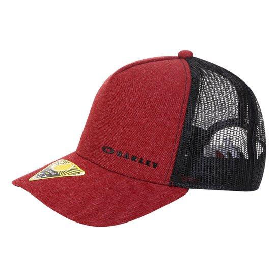 Boné Oakley Aba Curva Mod Chalten Cap Masculino - Vermelho Escuro ... ecb54773402