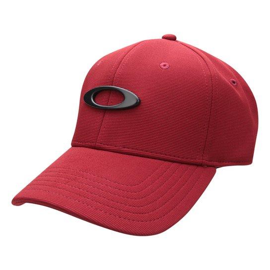 Boné Oakley Aba Curva Tincan Masculino - Vermelho Escuro - Compre ... 01ec31e6b16