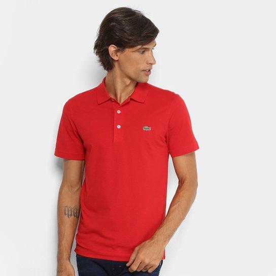 Camisa Polo Lacoste Logo Super Light Masculina - Vermelho Escuro ... e88f6b327d