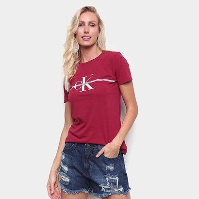 Camiseta Calvin Klein Slim Logo Faixa Feminina