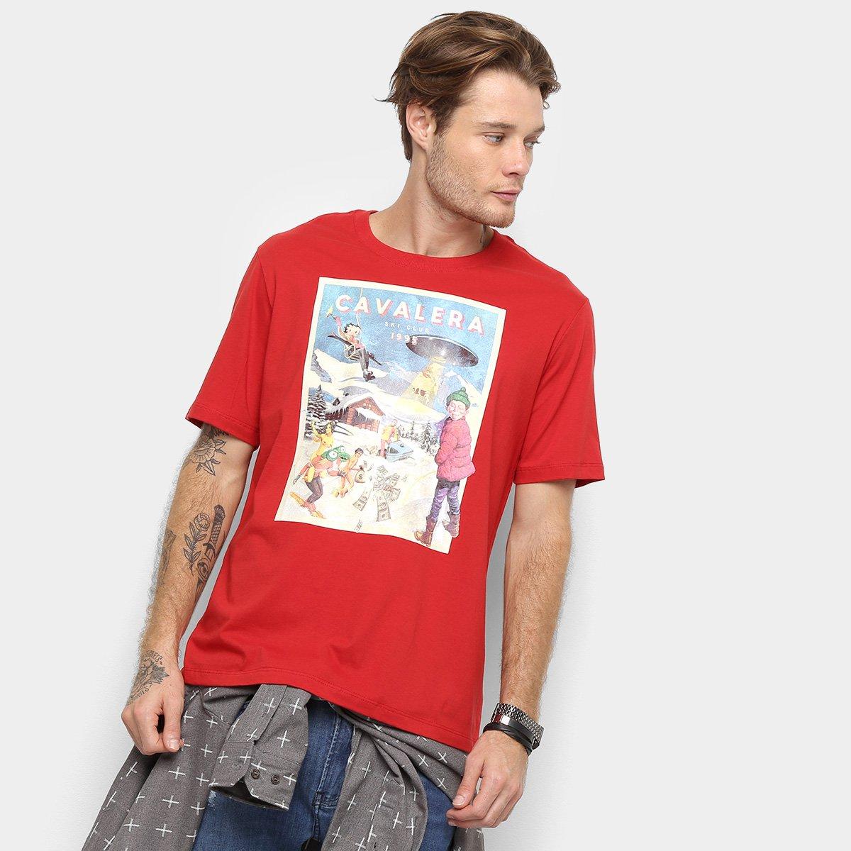 8ff867654b Camiseta Cavalera Onda 1995 Gola Ampla Masculina