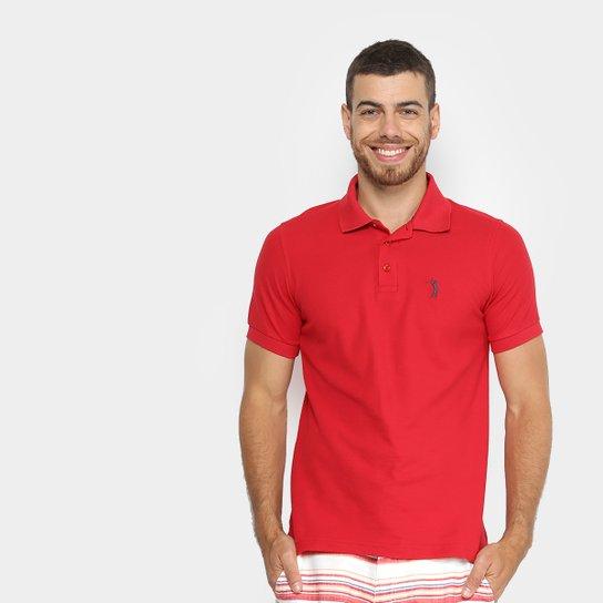 Camisa Polo Aleatory Piquet Básica Mescla Masculina - Vermelho Escuro 38e3b29d3b954