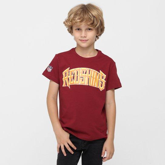 7c7e610773 Camiseta New Era NFL Chisel Washington Redskins Infantil - Vermelho Escuro