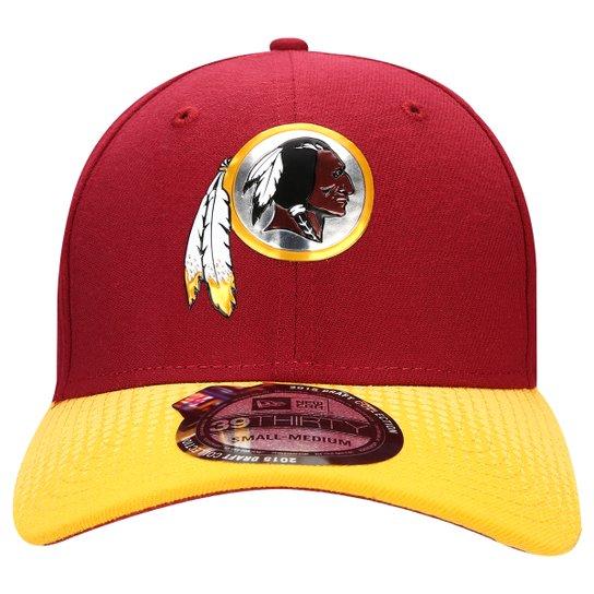 Boné New Era 3930 NFL Official Draft Washington Redskins - Vermelho Escuro cd996431e7d