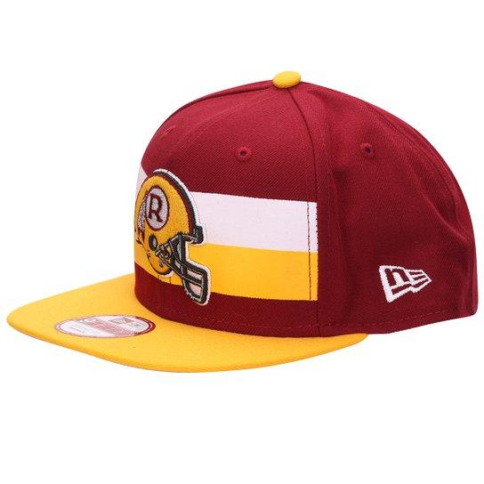 Boné New Era 950 NFL Original Fit Retro Stripe Washington Redskins -  Vermelho+Amarelo 2a5b99c5b07
