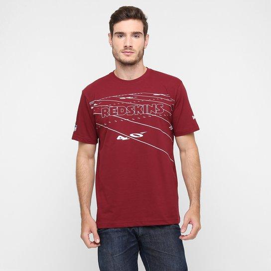 40c45d539e949 Camiseta New Era NFL Field Washington Redskins - Vermelho Escuro