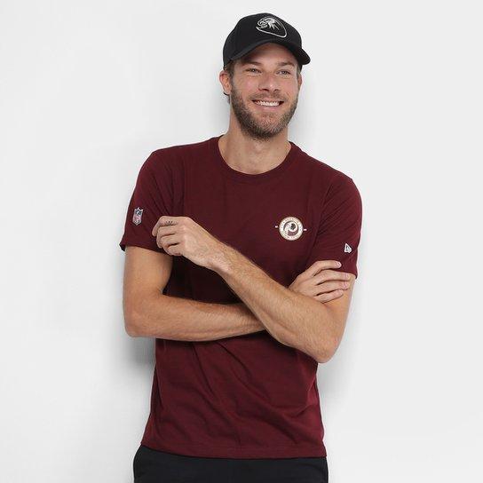 ce6aa40be7 Camiseta NFL Washington Redskins New Era Team Sport Vein 14 Masculina -  Vermelho Escuro