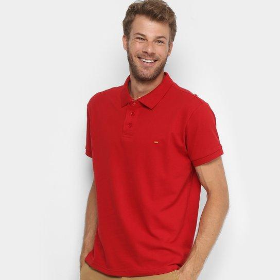 05cfc95136 Camisa Polo Gangster Piquet Com Elastano Masculina - Vermelho Escuro ...