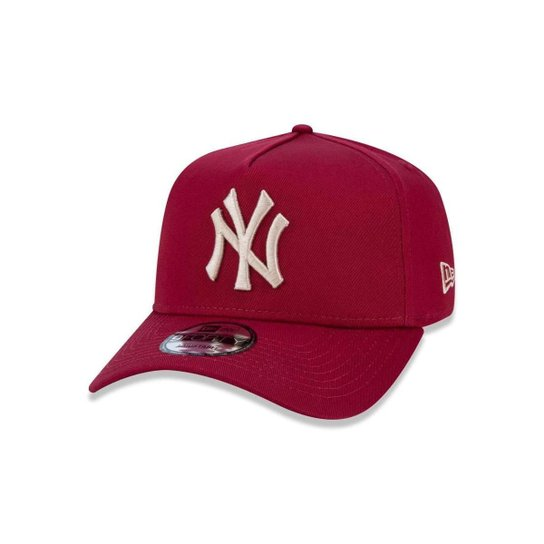 1702d6aaf6b4c Boné 940 New York Yankees MLB Aba Curva Snapback New Era - Vermelho Escuro