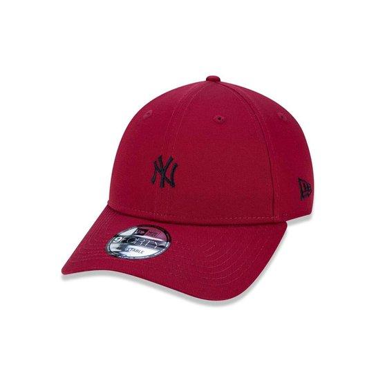 Boné 940 New York Yankees MLB Aba Curva Snapback New Era - Vermelho Escuro d79d9bbe6c2