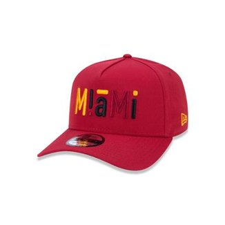 Boné 940 Miami Heat NBA Aba Curva Snapback New Era 3f7877f6971