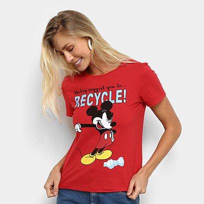Camiseta Cativa Disney Mickey Recycle Feminina