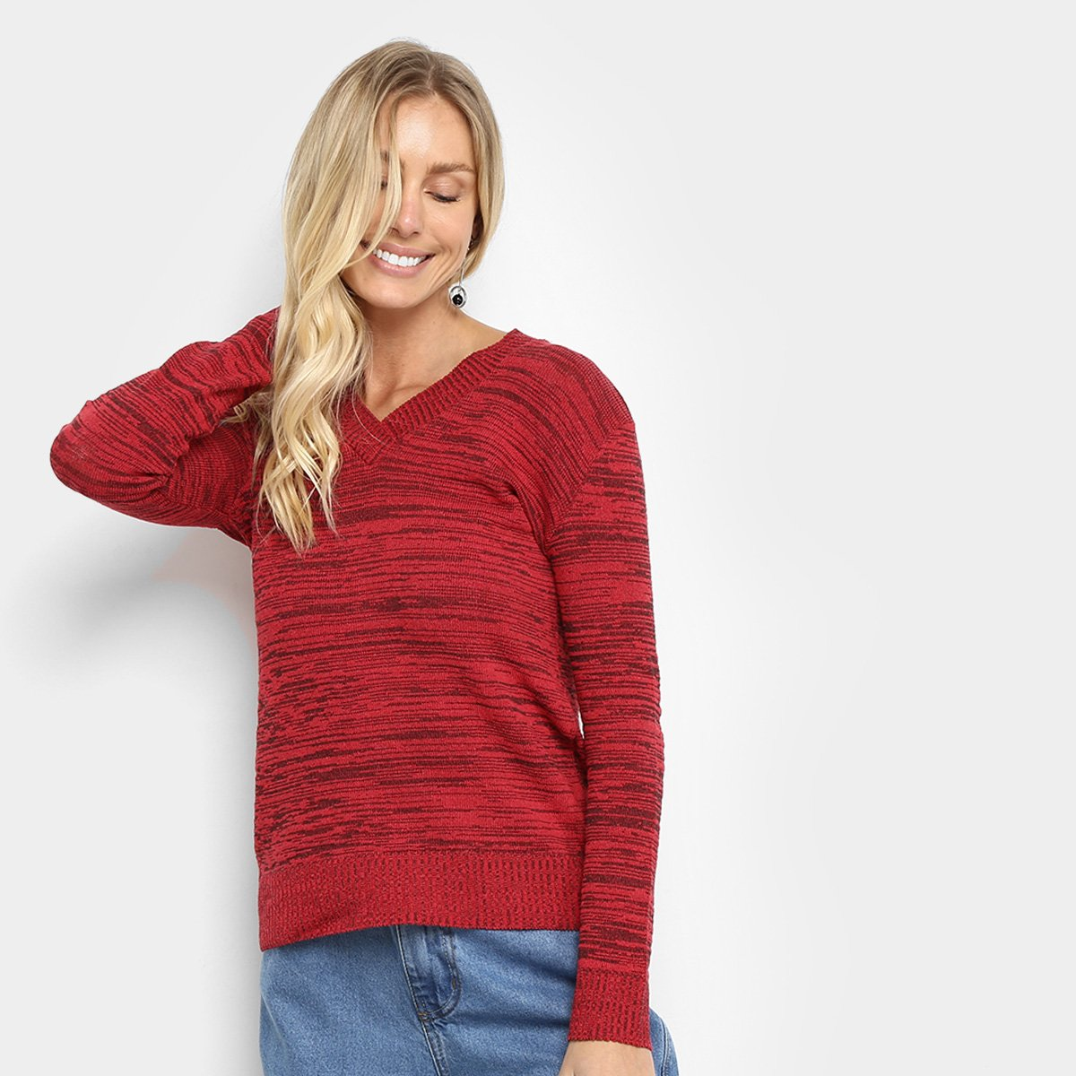 Suéter Tricot Fast Glam Estonado Feminino
