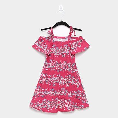Vestido Infantil Elian Malha Floral