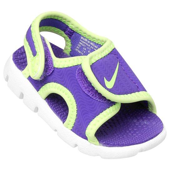 edb4063dc1 Sandália Nike Sunray Adjust 4 Infantil - Roxo e Branco   Netshoes