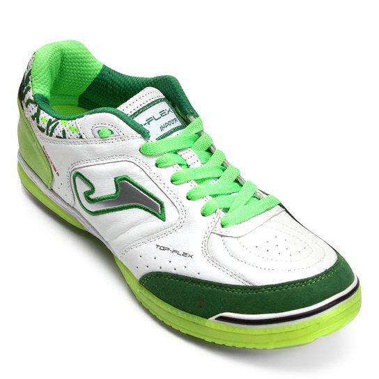 82657e9adca Chuteira Futsal Joma Top Flex IN - Verde e Branco - Compre Agora ...