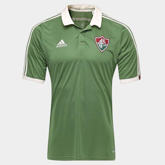 Camisa Fluminense III 2015 s nº Torcedor Adidas Masculina - Verde+Branco 2f941b3ebcafb