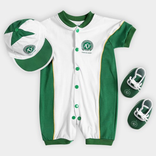 b5cb681739 Kit Chapecoense Infantil Curto Estilo I - Verde e Branco | Netshoes