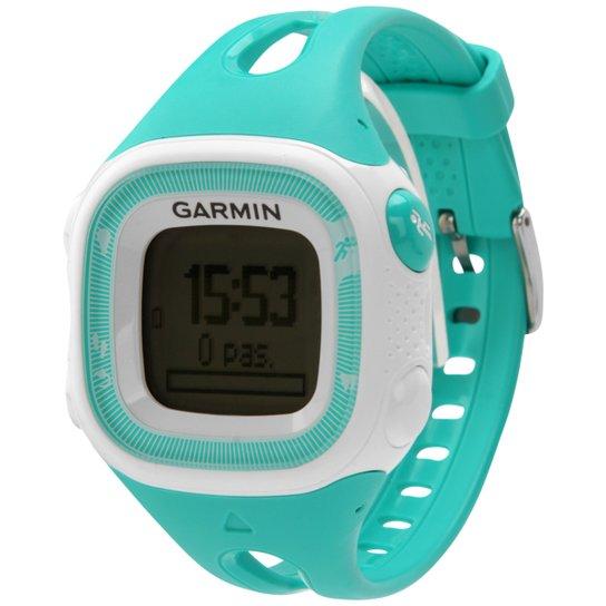 9d05dc0e506 Relógio c  GPS Garmin Forerunner 15 - Branco+Verde Água
