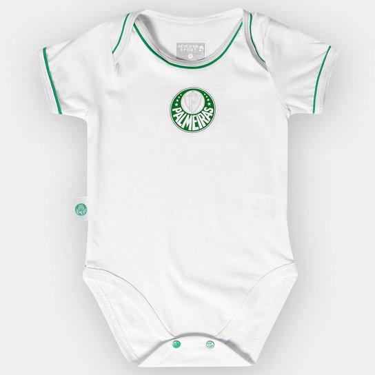 Body Palmeiras Infantil Americano Vivos Bebê - Branco e Verde ... de0fd58c160d5