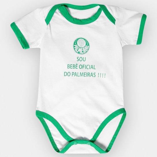 Body Palmeiras Infantil Oficial Bebê - Verde e Branco - Compre Agora ... f5e172b2cf369