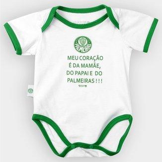 a1b1bd4537 Body Palmeiras Bebê Meu Coração É..