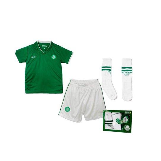 Conjunto Palmeiras Infantil Dry Uniforme Campo - Compre Agora  d622d5669cec7