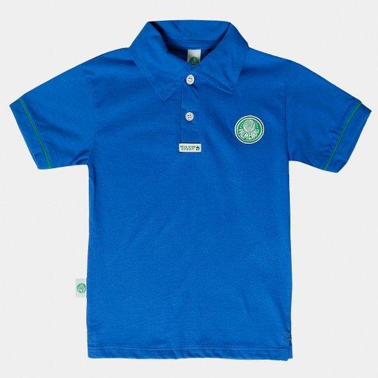 54c04f5e0e Camisa Polo Azul Palmeiras Infantil - Azul e Verde - Compre Agora ...