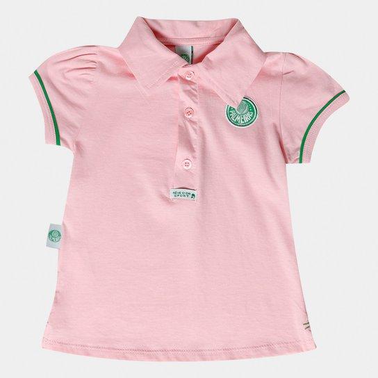be874f78a4438 Camisa Polo Rosa Palmeiras Infantil - Verde e Branco - Compre Agora ...