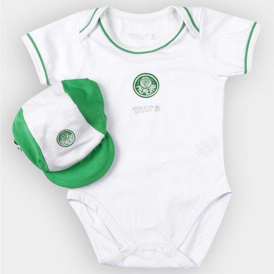 Kit Body Palmeiras Bebê Vivos e Boné - Verde e Branco - Compre Agora ... 0a1bbadc5f562