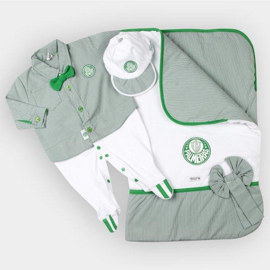Kit Maternidade Camisa Palmeiras Bebê - Verde e Branco - Compre ... f5427aeda80f4