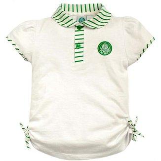 Camiseta Polo Meia Malha Menina Palmeiras Reve Dor - 3 Anos 1f882171cb2f8