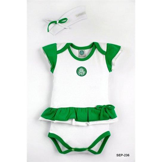 Body Vestido Com Tiara Palmeiras Reve Dor - M - Verde e Branco ... fc83a47aef9d2