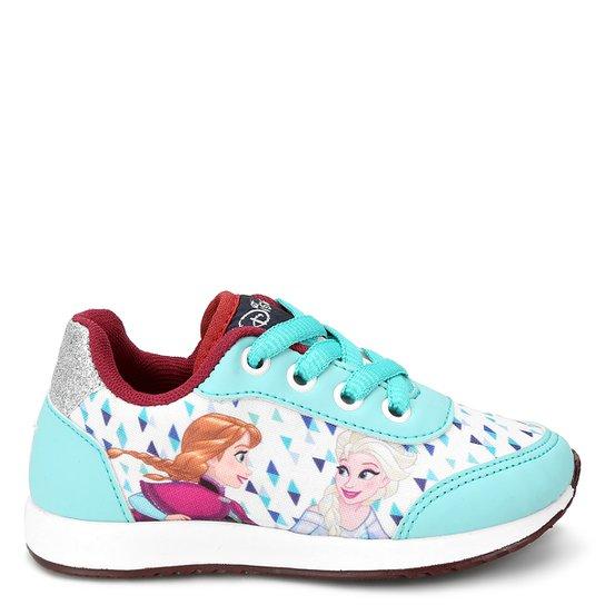 e324ce794b Tênis Infantil Disney Frozen Feminino - Azul Claro e Branco   Netshoes