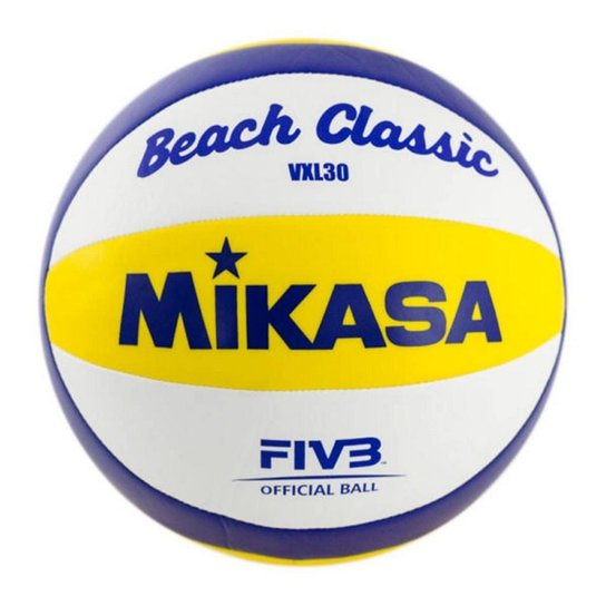 2831609e7 Bola Vôlei de Praia Mikasa VXL30 - Amarelo+Branco