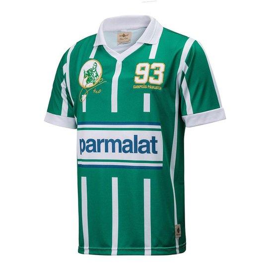 Camisa Retrô Gol Zinho Ex-Palmeiras Réplica 93 Masculina - Verde+Branco b5d6f6ad19ece
