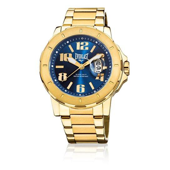 88ba49534aa Relógio de Pulso Everlast com Pulseira em Aço E645 - Dourado e Azul ...