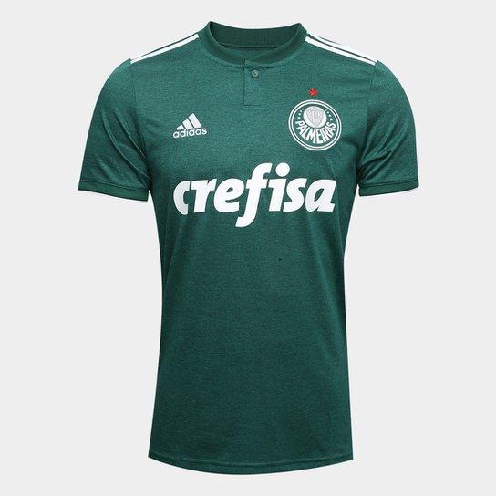 Camisa Palmeiras I 2018 s n° Torcedor Adidas Masculina - Verde+Branco c739e6c1198