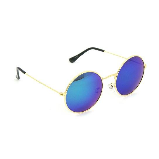 Óculos Bijoulux de Sol Redondo Espelhado com - Compre Agora   Netshoes 7d04a52125
