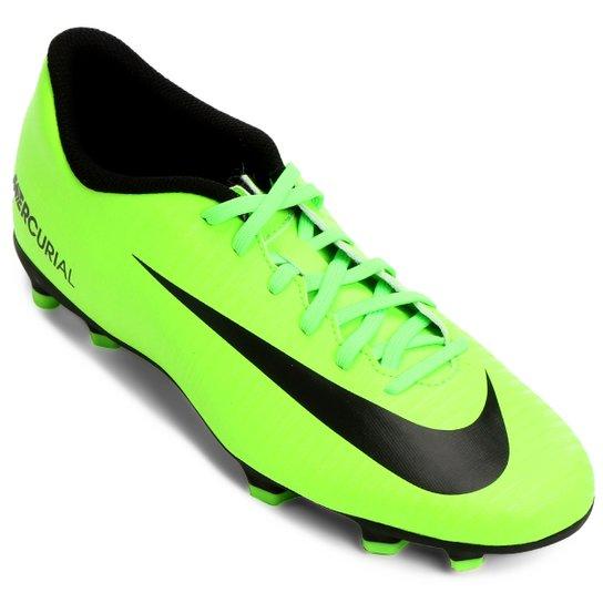 Chuteira Campo Nike Mercurial Vortex 3 FG - Verde e Preto - Compre ... eaa77d8737352