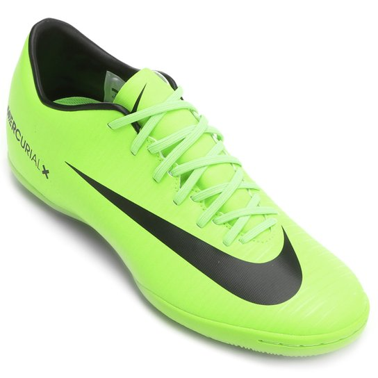 Chuteira Futsal Nike Mercurial Victory 6 IC - Verde e Preto - Compre ... 1dbfaebe62475