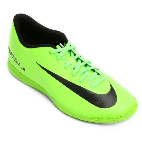 50e85f99e69a6 Chuteira Futsal Nike Mercurial Vortex 3 IC - Verde Limão+Preto