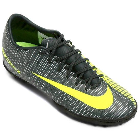 d40043d70d Chuteira Society Nike Mercurial X Victory 6 CR7 TF - Verde e Branco ...