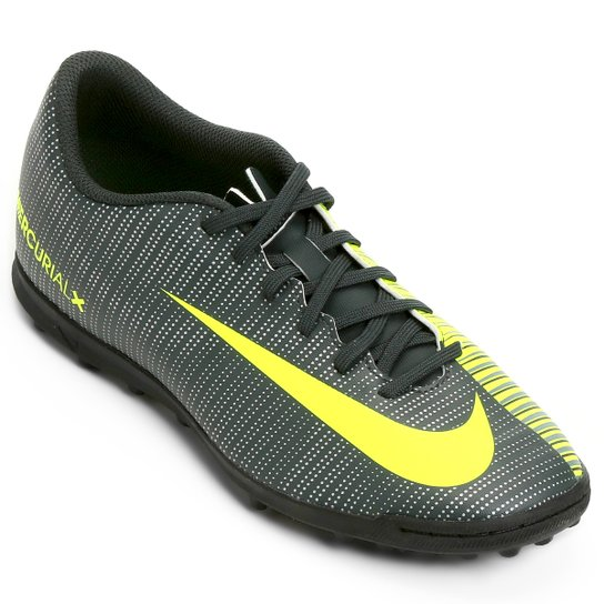 c3e83dc802 Chuteira Society Nike Mercurial X Vortex 3 CR7 TF - Verde+Branco