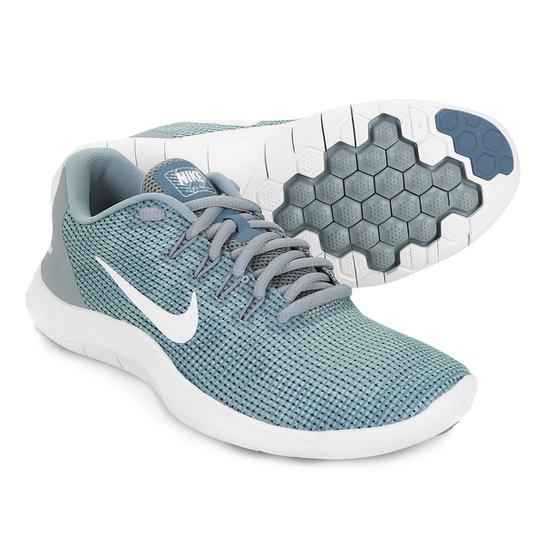 6bf0b017f2b Tênis Nike Wmns Flex 2018 Rn Feminino - Verde e Branco - Compre ...