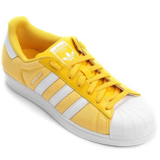 5ab3cd6b4d4 Tênis Adidas Superstar G Pack - Amarelo+Branco