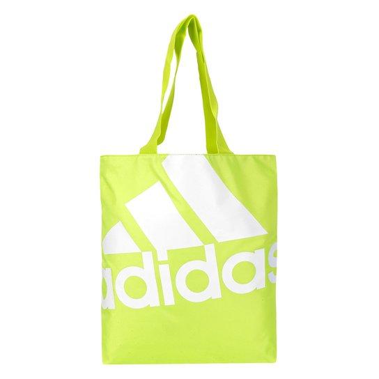 e4ffab617 Bolsa Adidas Shopper Favourite Feminina - Branco+Verde Limão