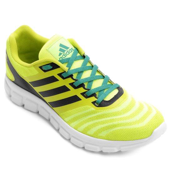 d09ed91b7b977 Tênis Adidas Element Flash Masculino - Amarelo Fluorescente