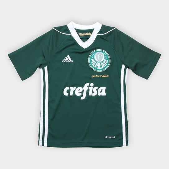 Camisa Palmeiras Infantil Obsessão Edição Limitada Adidas - Verde+Branco 3723edfc8a3ff